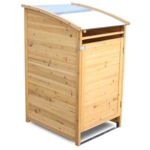 Cache poubelle en bois de qualité