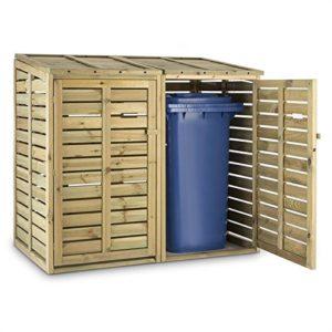 Abri pour poubelle en bois 240 litres